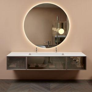 Комплект мебели для ванной комнаты Antonio Lupi Bespoke 162 cm Transparent bronze/Wood essence