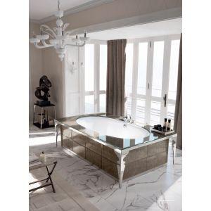 Отделностоящая ванна Milldue Avignone 130x215см, лакированное стекло
