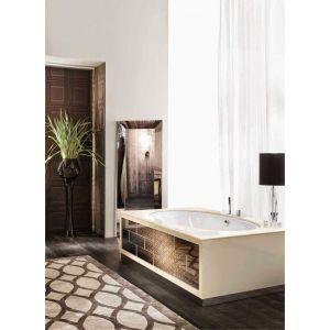 Отдельностоящая ванна Milldue Ritz 125х209см со столешницей, лак/мрамор