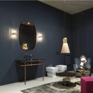 Консоль с раковиной для ванной комнаты Antonio Lupi ILBAGNO 90cm American walnut/Lacquered glass