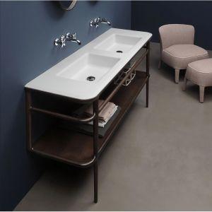 Консоль с раковиной для ванной комнаты Antonio Lupi ILBAGNO 180cm American walnut/Lacquered glass