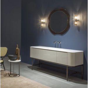 Тумба с раковиной для ванной комнаты Antonio Lupi ILBAGNO 180cm American walnut/Lacquered glass