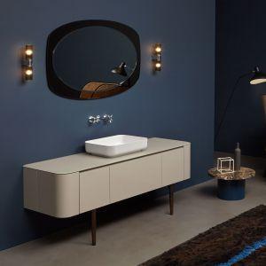 Тумба под раковину для ванной комнаты Antonio Lupi ILBAGNO 144 cm со стеклянной столешницей