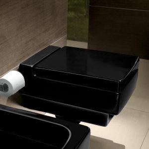 Унитаз подвесной Villeroy&Boch Memento glossy black ceramic plus