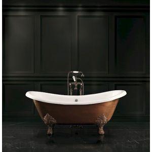 Ванна чугунная 168,5х76 cм Devon&Devon Cherie + ножки состаренная медь