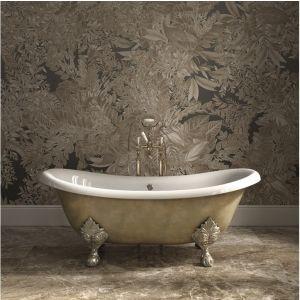 Отдельностоящая чугунная ванна Devon&Devon Lame, сатинированный никель