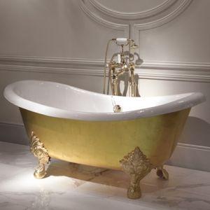Отдельностоящая чугунная ванна Devon&Devon Mida, брашированное золото