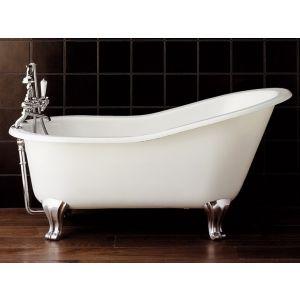 Отдельностоящая чугунная ванна Devon&Devon Regina, белая