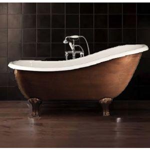 Отдельностоящая чугунная ванна Devon&Devon Regina, состаренная медь