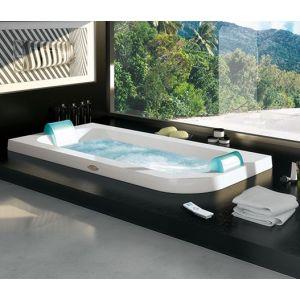Ванна акриловая гидромассажная Aquasoul Double Rainbow + Clean System 190 х 90 см
