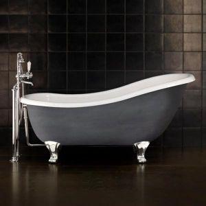 Отдельностоящая чугунная ванна Devon&Devon Regina, алюминий