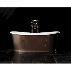 Отдельностоящая чугунная ванна Devon&Devon Сamelot, античная медь