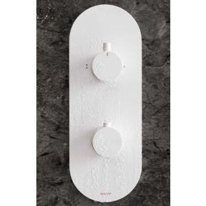 Встраиваемый термостат на 2 потребителя Graff Qubic Tre M-series (цвет - WT белый)