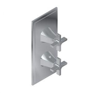 Встраиваемый термостат на 2 потребителя Graff Finezza Due (цвет - PC хром)