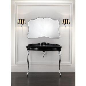 Консоль для умывальника Devon&Devon Colette с черной мраморной столешницей, ножки хром