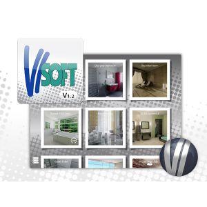 3D визуализация ванных комнат visoft