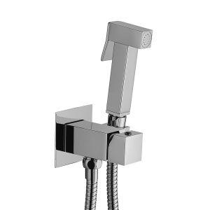 Гигиеический душ со смесителем и шлангом Paffoni Tweet Square Mix (цвет - хром)
