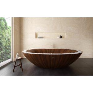 Деревянная ванна Alegna Laguna Spa 240 х 145 см Mahagoni, матовая