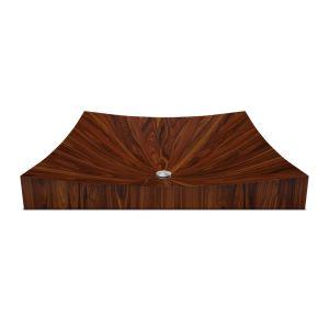 Деревянная раковина накладная на стодешницу Alegna Laguna Pure 50 х 50 см