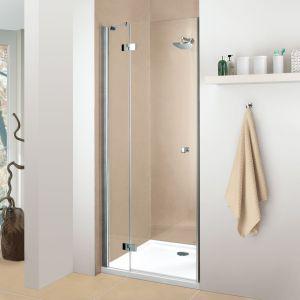 Поворотная дверь в нишу DuschoLux Classic 2 (профиль - серебро, стекло - прозрачное с CareTec)