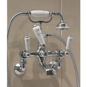 Cмеситель для ванны и душа Devon&Devon Dandy cо стены (цвет - хром)