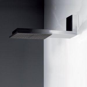 Настенная душевая лейка Gessi Minimali Shower System 350 x 350 мм, тропический ливень/водопад/распыление (цвет - цвет - 238 mirror steel)