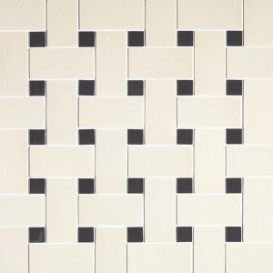 Мозаика Devon&Devon Mix 2х5 White-Black 303x303 мм