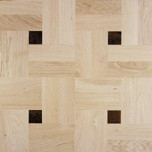 """Деревянная плитка Devon&Devon 60x60 светлый дуб, инкрустация """"wenge"""""""