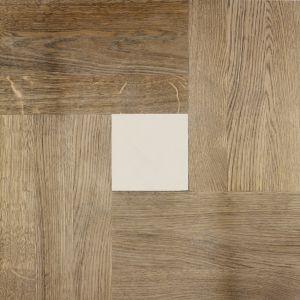 """Деревянная плитка Devon&Devon 60x60 темный дуб, каменная инкрустация """"chiarabell"""""""