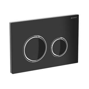Смывная клавиша, двойной смыв Geberit Sigma21 (стекло чёрное)