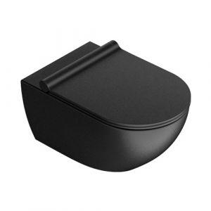 Унитаз подвесной NewFlush (безободковый) Catalano Sfera с сиденьем Soft Close, чёрный матовый