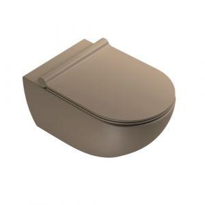 Унитаз подвесной Catalano Sfera с сиденьем Soft Closе, коричневый матовый