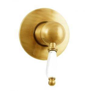 Смеситель для душа скрытого монтажа Fiore Imperial (цвет -  золото/керамика)