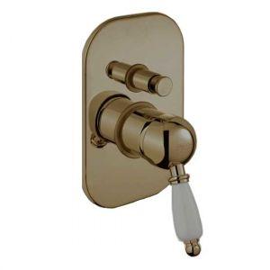 Смеситель для душа скрытого монтажа с переключателем Fiore Imperial (цвет -  бронза/керамика)