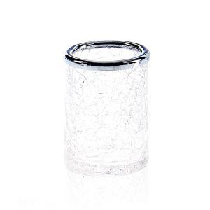 Стакан для зубных щёток Decor Walther Crack, хром/стекло прозрачное
