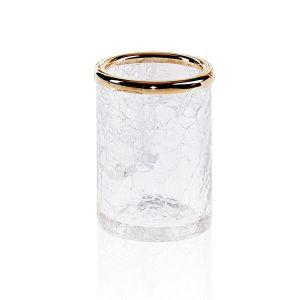Стакан для зубных щёток Decor Walther Crack, золото/стекло прозрачное