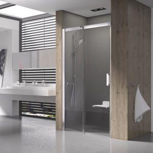 Душевые двери Ravak Matrix MSD2-110 L (профиль - хром; стекло - Transparent (прозрачный))