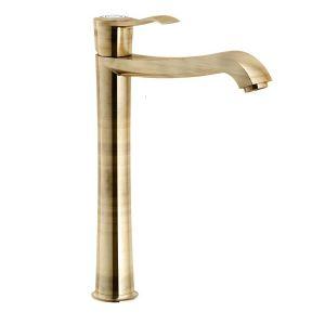 Смеситель для раковины, высокий Nobili Sofi (цвет - бронза), с донным клапаном