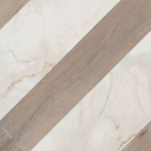 Декор Flaviker Supreme Stripe Golden Calacatta/Dakota 60 x 60 см NATURALE RETT (posa 3)