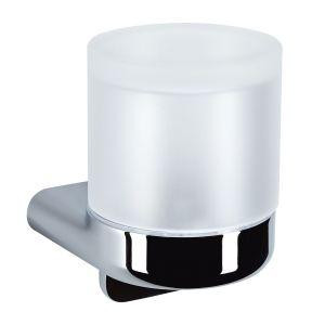 Дозатор для жидкого мыла Emco S66, хром/стекло матовое