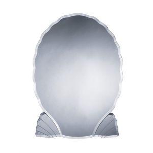 Зеркало в форме ракушки, с фасками 620 х 860 мм Jörger Palazzo Crystal, хром