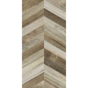 Керамогранит APE Ceramica Dock CHEVRON BROWN 60 х 120 см RECT