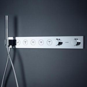 Термостат для скрытого монтажа Axor Select 670/90 на 5 потребителей, золото