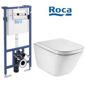 Инсталляция Roca Pro (4-в-1) комплект A890090020 с унитазом Roca Gap A34H47C000 + сиденье Soft Close