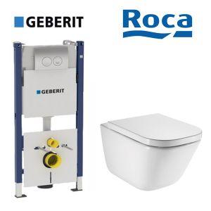 Инсталляция Geberit Duofix (4-в-1) комплект 458.126.00.1 с унитазом Roca Gap A34H47C000 + сиденье Soft Close