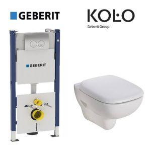 Инсталляция Geberit Duofix (3-в-1) комплект 458.126.00.1 с унитазом Kolo Style L23120 + сиденье Soft Close L20112