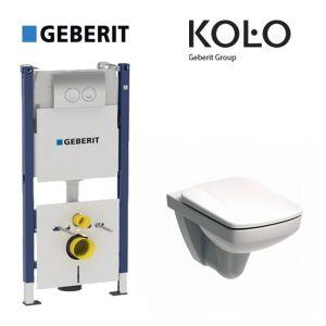 Инсталляция Geberit Duofix (3-в-1) комплект 458.126.00.1 с унитазом Kolo Nova Pro M39018000 + сиденье Soft Close