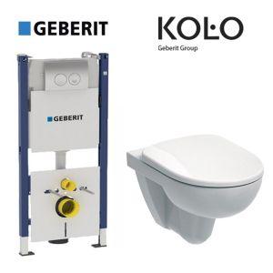 Инсталляция Geberit Duofix (3-в-1) комплект 458.126.00.1 с унитазом Kolo Nova Pro M33120000 + сиденье Soft Close M30112000