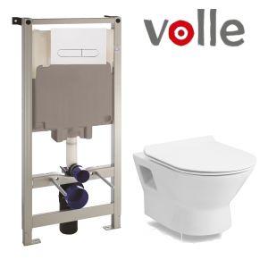 Инсталляция Volle Master (4-в-1) комплект 141919 с унитазом Volle Fiesta Rim 13-77-034 + сиденье Soft Close