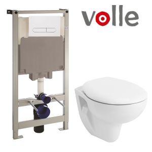 Инсталляция Volle Master (4-в-1) комплект 141919 с унитазом Volle Maro 13-52-321 + мягкое сиденье